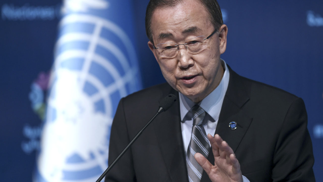 UN secretary general Ban Ki-moon / AFP PHOTO / OZAN KOSE