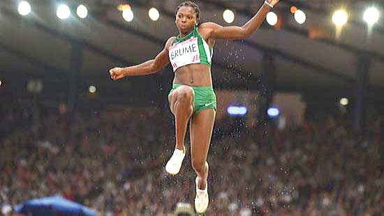 Ese Brume started her preparation for the Rio 2016 Olympic Games with the 400 metres race at the AFN All Comers Championship in Lagos…yesterday.