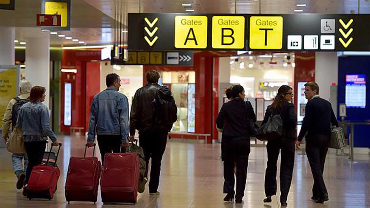 Brussels airport departure hall reopens