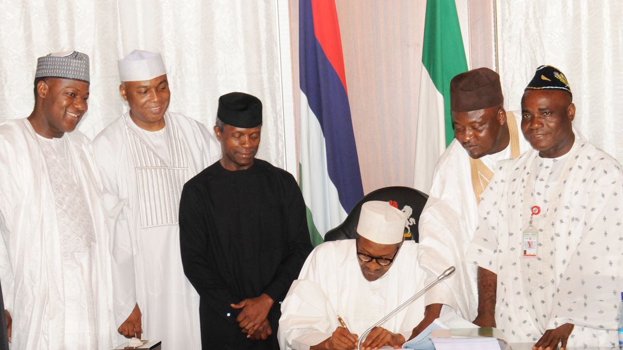 Buhari signs 2016 budget into law