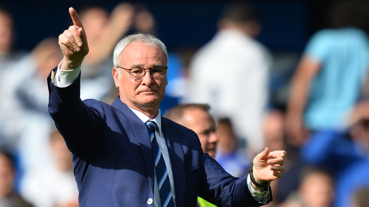 Leicester City's Italian manager Claudio Ranieri gestures after the English Premier League football match between Chelsea and Leicester City at Stamford Bridge in London on May 15, 2016. / AFP PHOTO / GLYN KIRK /