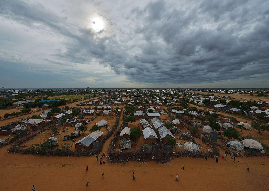 An overview of the part of the eastern sector of the IFO-2 camp in the sprawling Dadaab refugee camp, north of the Kenyan capital Nairobi seen on April 28, 2015.  AFP PHOTO/Tony KARUMBATONY KARUMBA/AFP/Getty Images