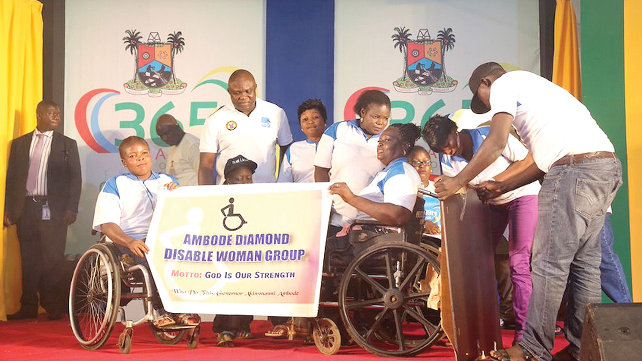 Governor Ambode hosting the physically challenged persons to a dinner at the State House...on Sunday