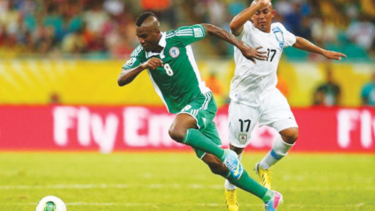 Brown Ideye opened scores for Nigeria in the international friendly against Luxembourg… yesterday. PHOTO: AFP.