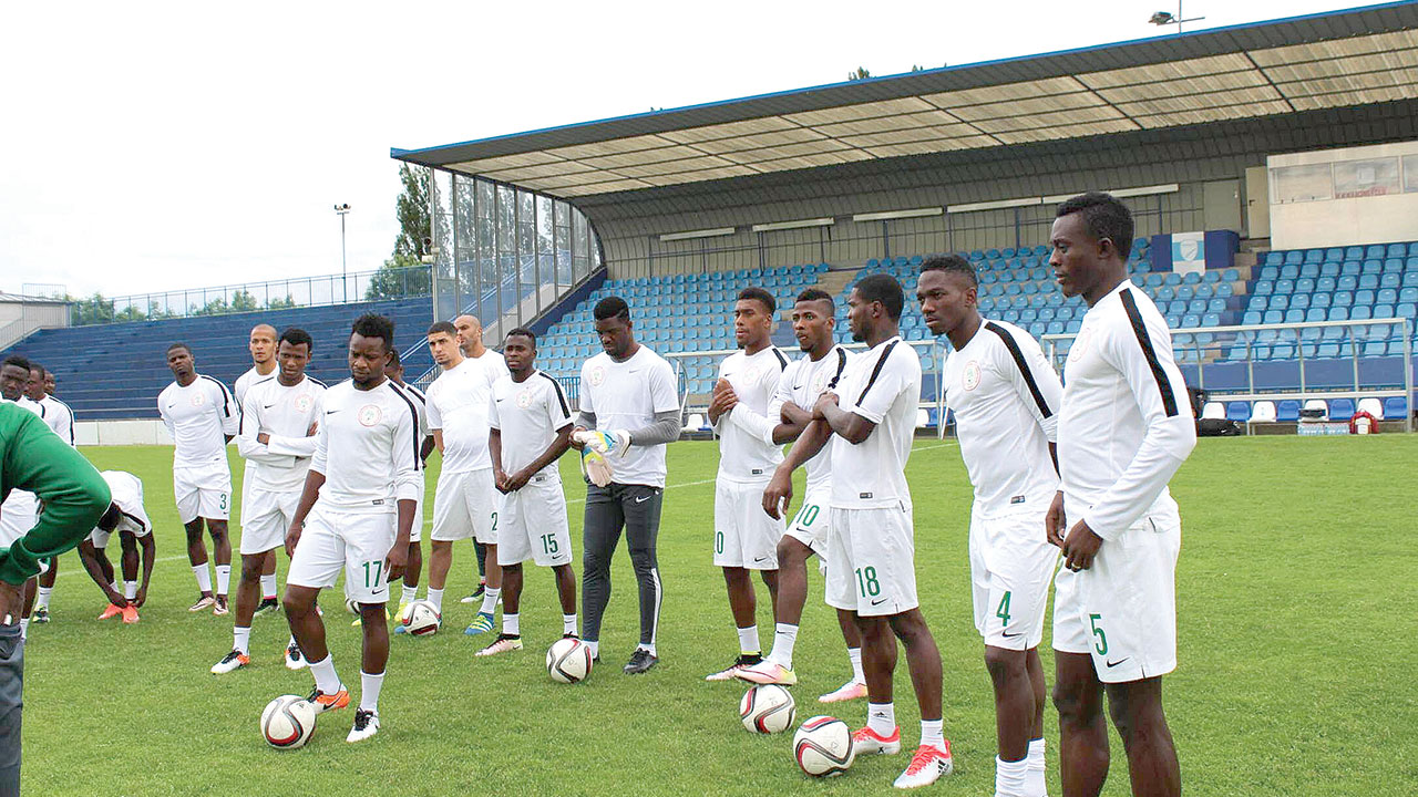 The Super Eagles PHOTO: THENFF.COM.
