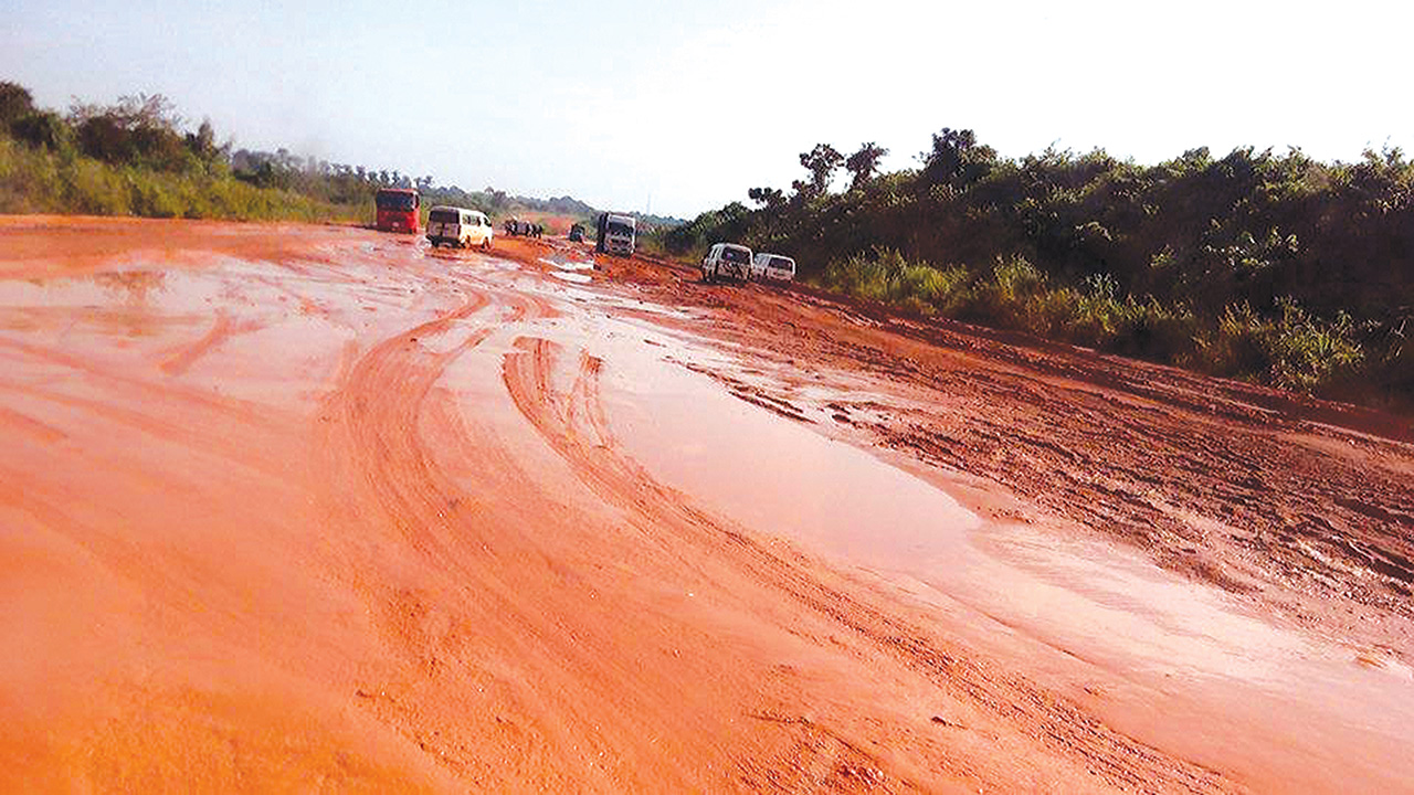 A section of the road. PHOTO: CHUKS NWANNE