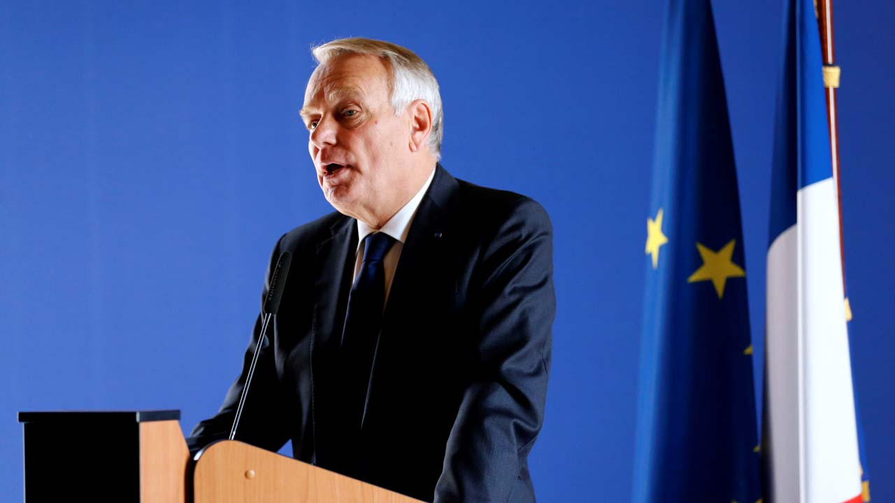French Minister for Foreign Affairs Jean-Marc Ayrault, speaks during a press conference on May 21, 2016 in Paris following a meeting with relatives of the victims of the EgyptAir flight from Paris to Cairo that crashed into the Mediterranean sea with 66 people on board. French Foreign Minister said on May 21 that no theory on the cause of the EgyptAir crash has been ruled out, after revelations of smoke in the cabin minutes before the disaster. The Airbus A320 carrying 66 people had been flying from Paris to Cairo early on May 19 when it plummeted and turned full circle before vanishing off radar, with some debris later found in the Mediterranean Sea. MATTHIEU ALEXANDRE / AFP
