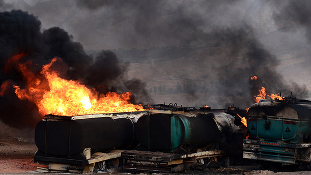 At least 73 people have been killed and dozens of others injured after two buses and an oil tanker burst into flames following a head-on collision in eastern Afghanistan.
