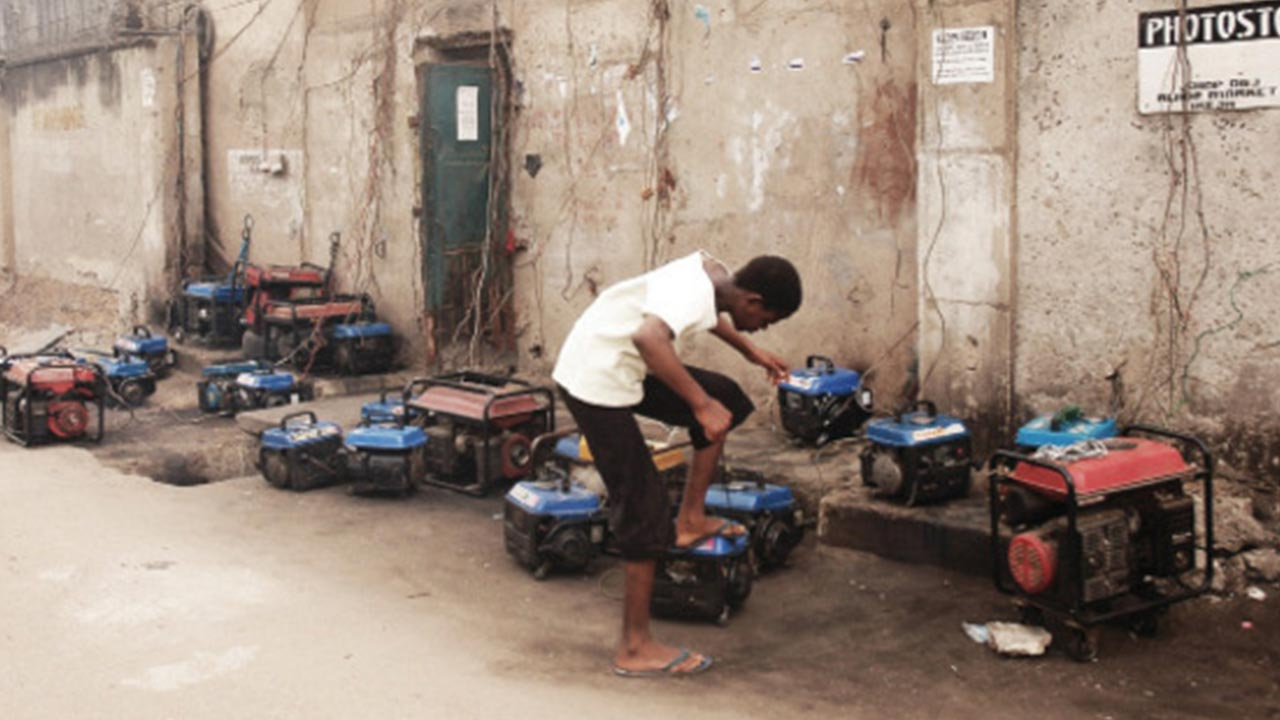 Image result for people using gasoline generators in nigeria images