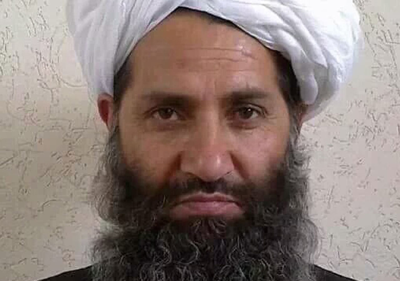 This undated handout photograph released by the Afghan Taliban on May 25, 2016 shows, according to the Afghan Taliban, the new Mullah Haibatullah Akhundzada posing for a photograph at an undisclosed location. The Afghan Taliban on May 25 announced Haibatullah Akhundzada as their new chief, elevating a low-profile religious figure in a swift power transition after officially confirming the death of Mullah Mansour in a US drone strike. / AFP PHOTO / Afghan Taliban / STR /