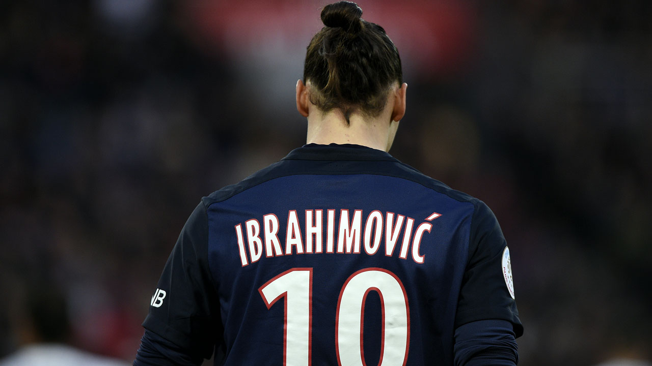 "(FILES) This file photo taken on March 05, 2016 shows Paris Saint-Germain's Swedish forward Zlatan Ibrahimovic walking on the pitch during the French L1 football match between Paris Saint-Germain (PSG) and Montpellier (MHSC), at the Parc des Princes stadium in Paris. Zlatan Ibrahimovic said on May 13, 2016 he was leaving French champions Paris Saint-Germain at the end of this season, in a message on the Swedish striker's Twitter account. ""My last game tomorrow at Parc des Princes. I came like a king, left like a legend,"" said Ibrahimovic, who has been crowned France's player of the year for a record third time. / AFP PHOTO / FRANCK FIFE"