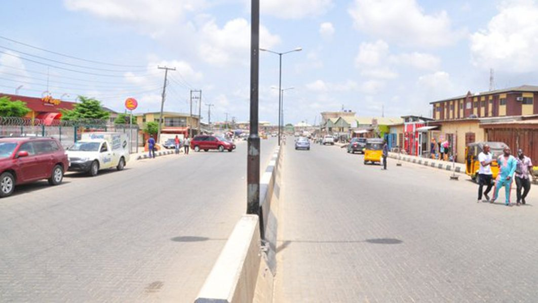 Newly constructed Ago Palace Way, Okota PHOTO: LASG