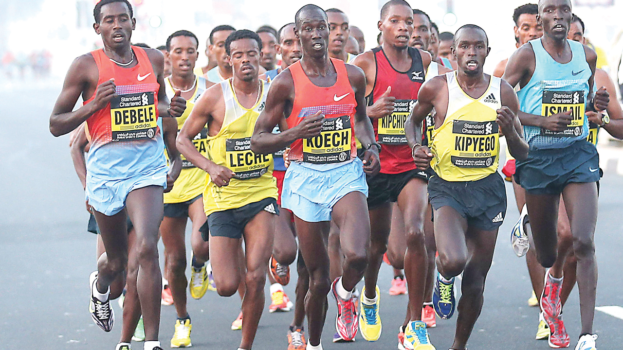 Marathoners during a recent race in Nigeria. All is set for Warri Peace marathon in Delta State.