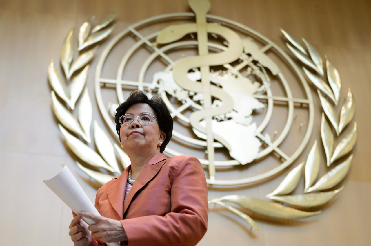 World Health Organization (WHO) Director-General Margaret Chan, AFP PHOTO / FABRICE COFFRINI