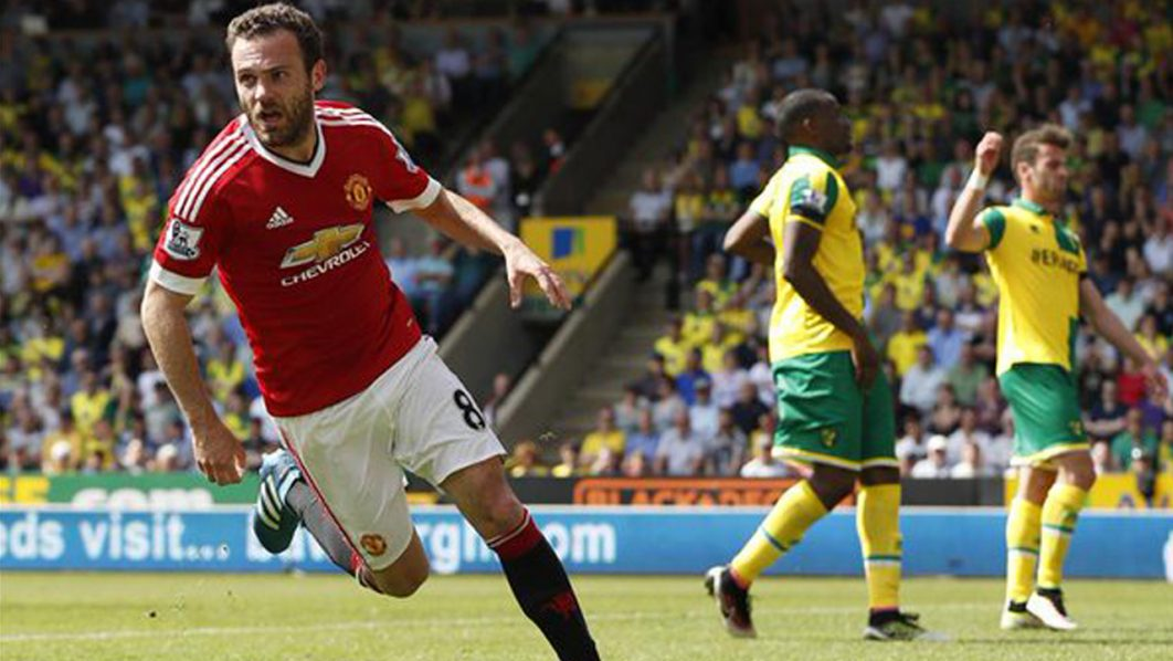 Juan Mata's second-half goal was good enough to give Manchester United a 1-0 win away to Norwich City on Saturday, a result that edged the Canaries closer towards relegation from the Premier League. PHOTO: AFP