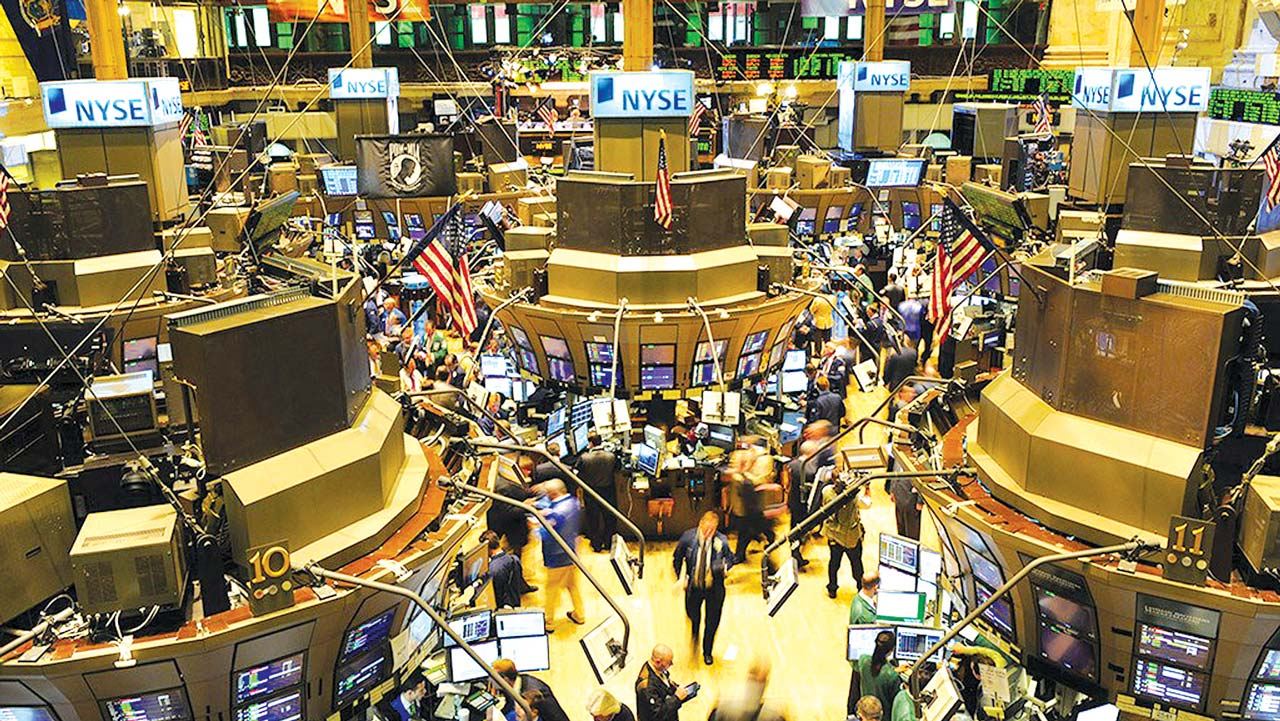Traders on the floor of New York Exchange