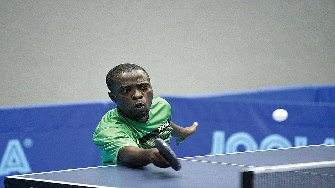 Sunday Odunlade was one of the stars that took part in the ITTF organised World Tour Premier Lotto Nigeria Open held at the Molade Okoya Hall of the Teslim Balogun Stadium…recently. PHOTO: ITTF.COM