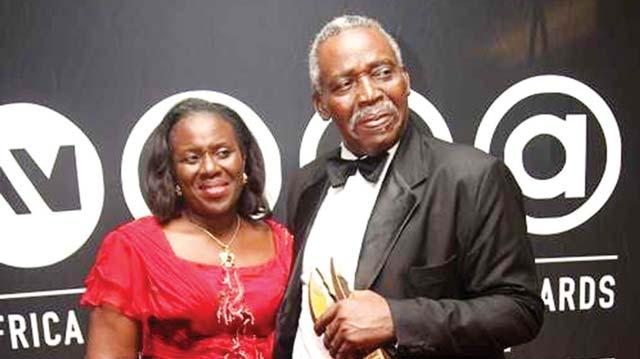 Veteran actor Olu Jacobs and wife Joke