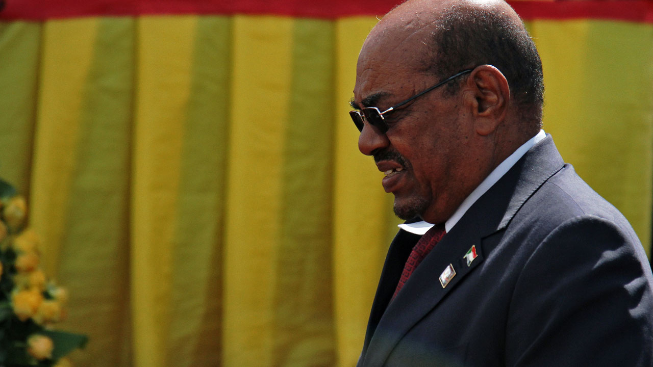 Sudan's President Omar al-Bashir / AFP PHOTO / GAEL GRILHOT
