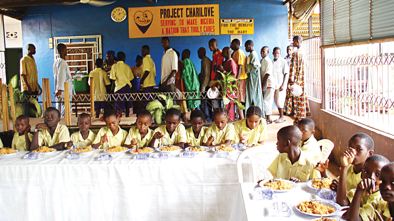 A cross section of children at Project Charilove