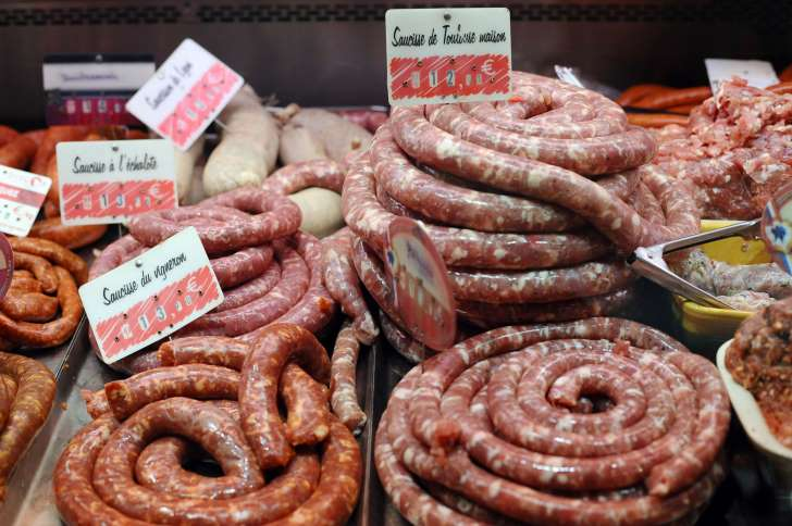: Each 50-gram (1.8-ounce) portion of processed meat eaten daily increases the risk of colorectal cancer by 18 percent, according to the WHO PHOTO: AFP