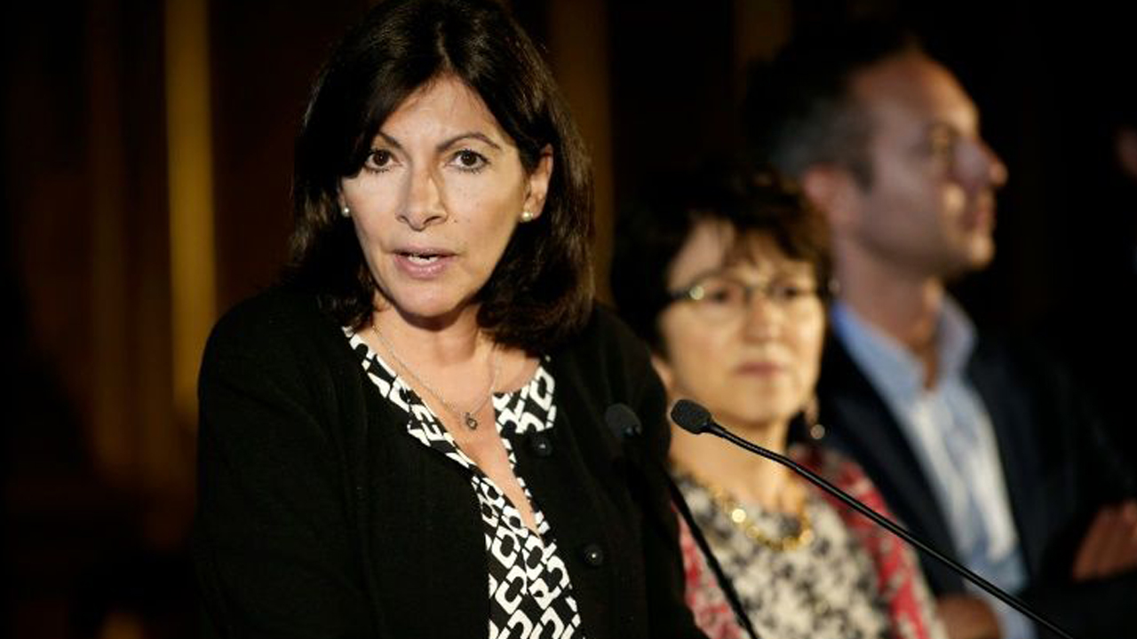 Mayor of Paris Anne Hidalgo outlines plans fo an official camp to welcome migrants, on May 31, 2016 in Paris PHOTO: AFP