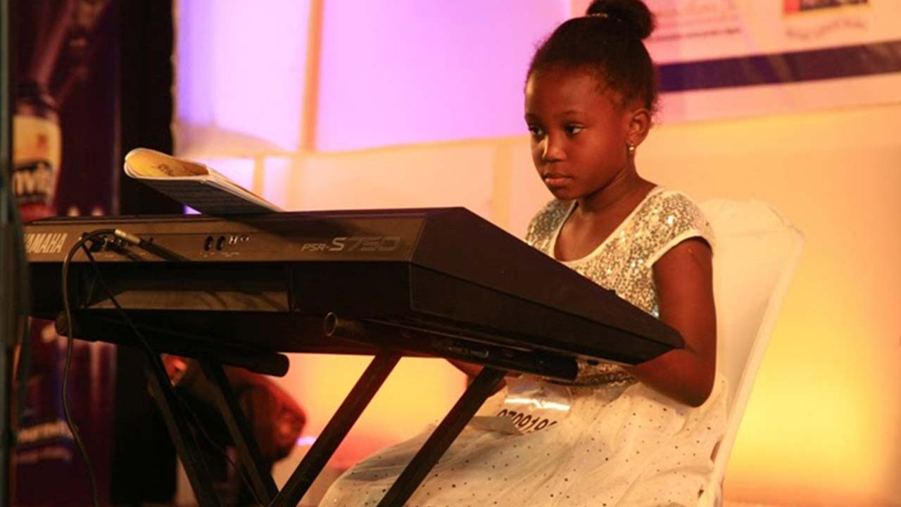 A contestant at the God's Children Got Talent (GCGT) Reality Competition 4th Season Quarter-Final.