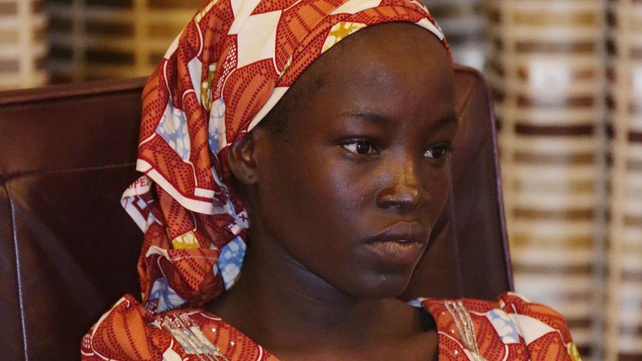 Amina Ali Nkeki was rescuedwith her baby by civilian vigilantes and troops.