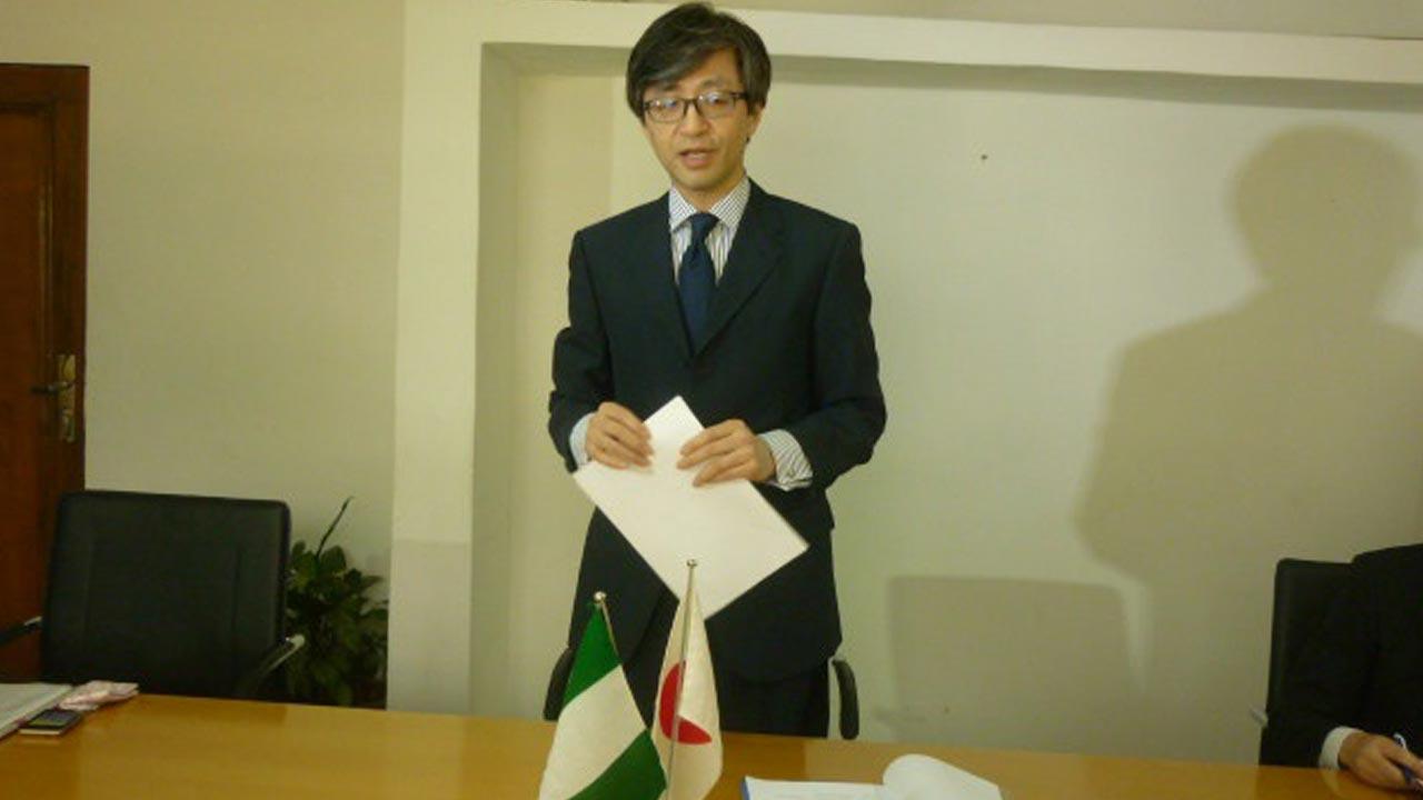 Japanese Ambassador to Nigeria, Sadanobu Kusaoke,