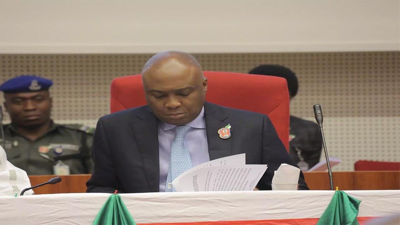 Bukola Saraki, Senate President.