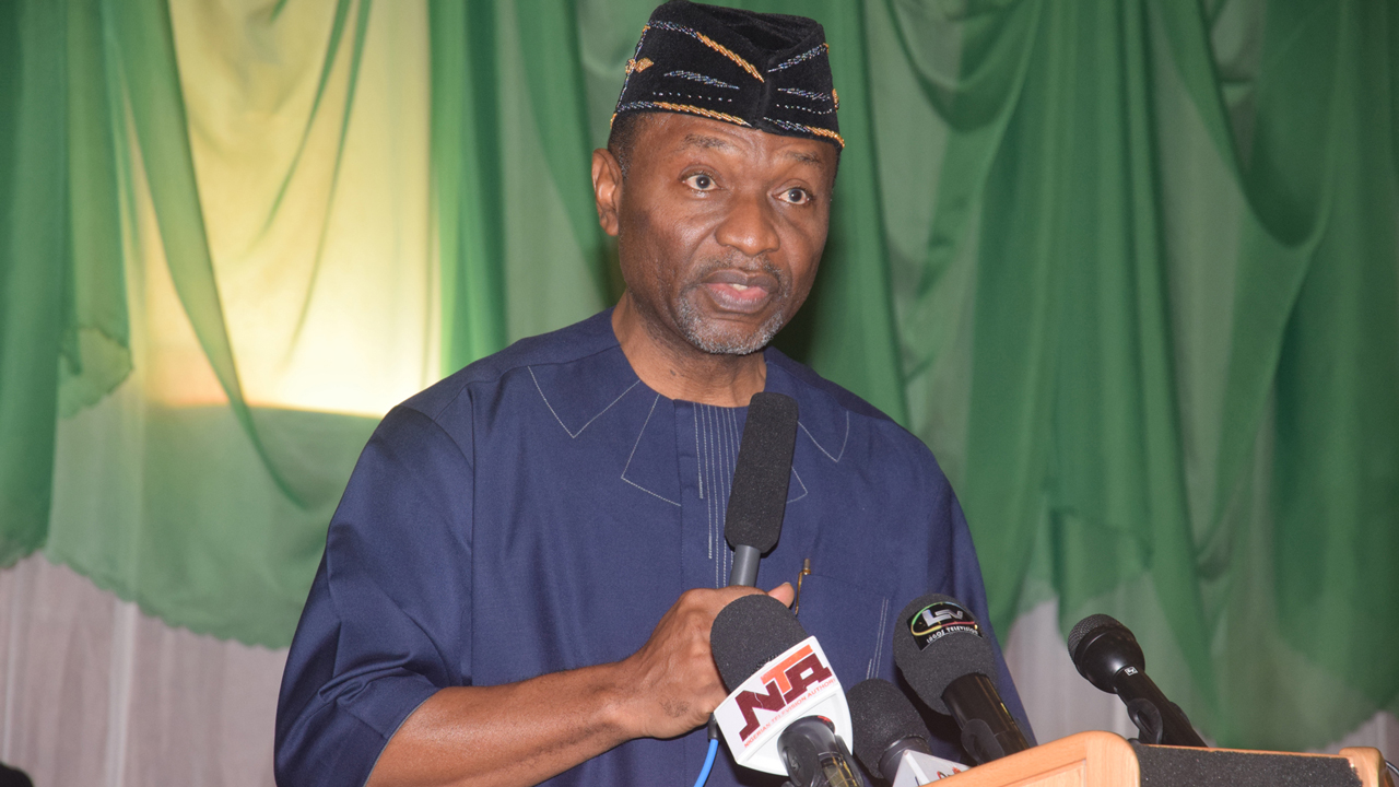 Minister Budget and National Planning Sen. Udoma Udo Udoma Making his remark, during the 2016 Budget of Change Breakdown Presentation, held at the State House Conference Centre, Presidential Villa Abuja yesterday