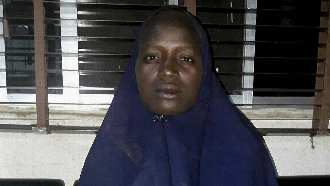 "This handout picture taken in Damboa and released by the Nigerian army on May 20, 2016 shows Serah Luka after she was released during an operation conducted by Nigeria's army in which local civilian vigilantes took part. Serah is one of 219 girls abducted from their school in Chibok more than two years ago. The student, who is believed to be a Christian pastor's daughter, said she was ""at the school at the time they were abducted"" and that she was from Madagali, in neighboring Adamawa state. / AFP PHOTO / Nigerian Army / STRINGER / AFP PHOTO / STRINGER /"