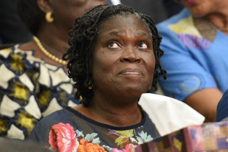 Simone Gbagbo, Ivory Coast's former first lady, sits in a court dock in Abidjan on December 26, 2014 (AFP Photo/Sia Kambou)