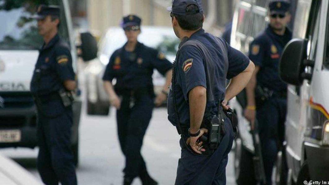 Spanish police on duty PHOTO: AFP