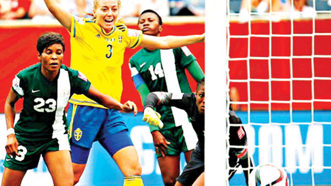 Sweden scored first against the Super Falcons at Canada 2015 FIFA Women's World Cup. It ended 3-3, but the Falcons were eliminated after failing against Australia and USA