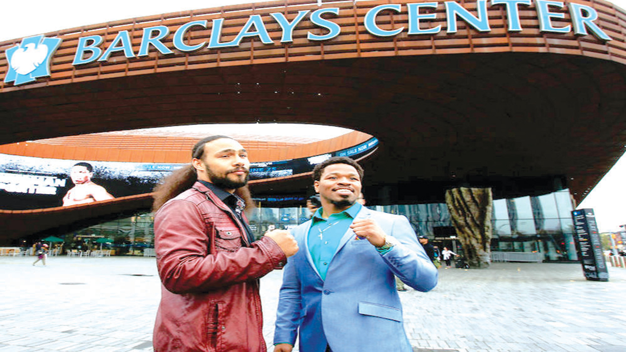 Thurman (left) and Porter will clash at the Barclays Centre