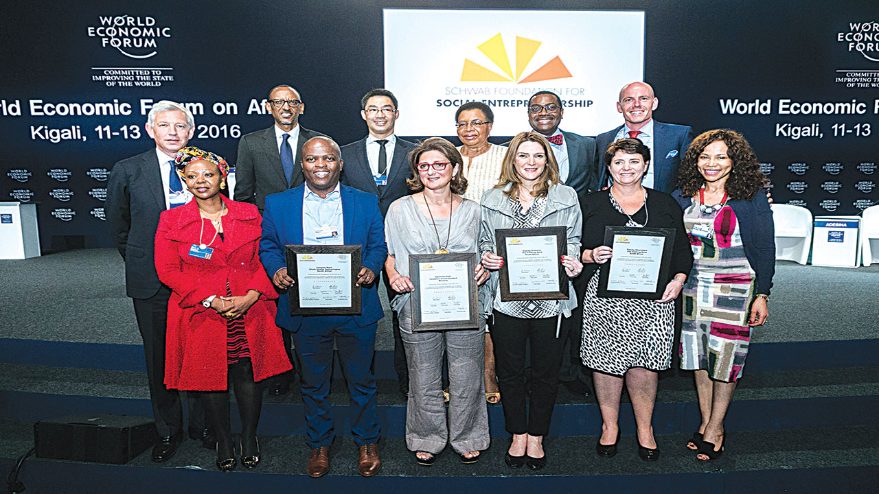 Awardees at the just concluded World Economic Forum on Africa 2016, in Kigali, Rwanda. PHOTO: WEF