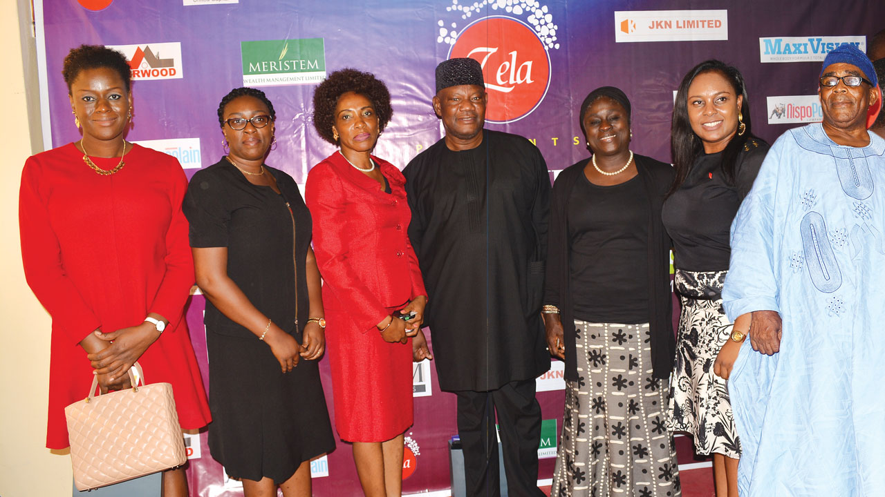 Managing Director ARM Trustees, Folashade Adeloye (left); Head Meristem Wealth, Mrs. Damilola Hassan; the Convener of the wealth forum, Mrs. Phyllis Okeke of Zela Ventures International Limited; Chairman IFPL and former Chairman of UPDC Plc, S. Mayaki; former Managing Director of United Capital Trustees, Mrs. Tokunbo Ajayi; United Capital Trustees' Ms. Ada Ijara; and former Chairman of Ecobank and Chairman, JKN, Chief John Odeyemi, at the forum, in Lagos.