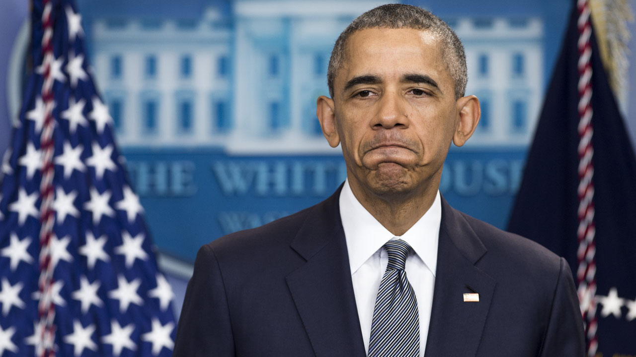 """(FILES) This file photo taken on May 05, 2016 shows US President Barack Obama speaking about the economy in the Brady Press Briefing Room at the White House in Washington, DC. Barack Obama will become the first US president to visit atomic bomb-struck Hiroshima during a trip to Hiroshima later this month, the White House said May 11, 2016. """"The President will make an historic visit to Hiroshima with Prime Minister (Shinzo) Abe to highlight his continued commitment to pursuing the peace and security of a world without nuclear weapons,"""" said spokesman Josh Earnest.  / AFP PHOTO / SAUL LOEB"""