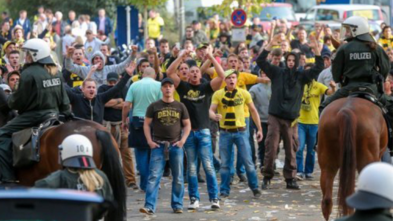 German police arrested 530 football fans and detained 159 of them after trouble marred the Eintracht Frankfurt-Darmstadt derby in the German league