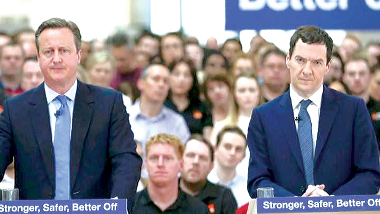 David Cameron (left) and George Osborne campaigning for Britain to stay in the EU      PHOTO: TELEGRAPH
