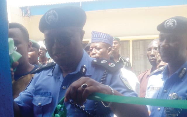 Ali commissioning the police station