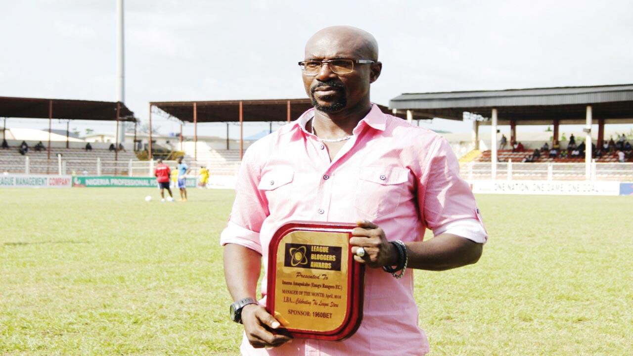 LBA Award winner, Enugu Rangers' Coach, Imama Amakapabo.
