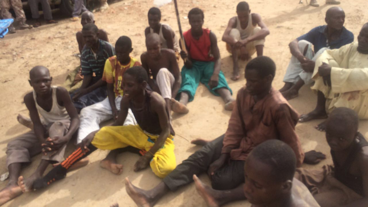 The arrested Boko Haram members