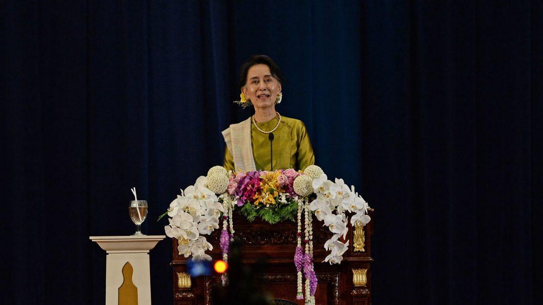 Minister Aung San Suu Kyi . / AFP PHOTO / LILLIAN SUWANRUMPHA