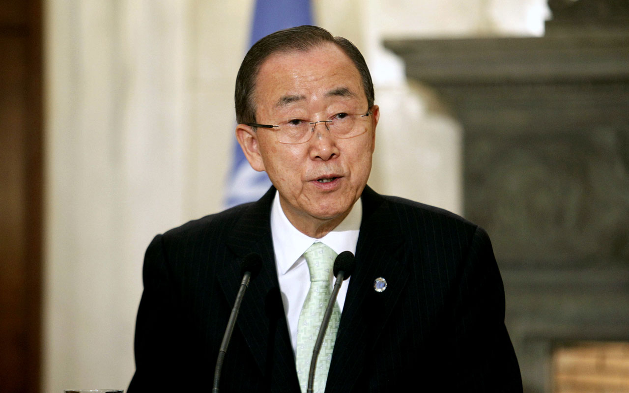 UN Secretary-General Ban Ki-moon . / AFP PHOTO / Eurokinissi / Yorgos KONTARINIS