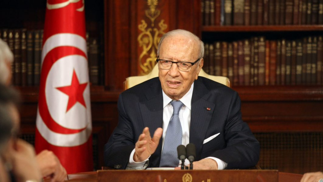 Tunisia's President Beji Caid Essebsi / AFP PHOTO / TUNISIAN PRESIDENCY / HO /