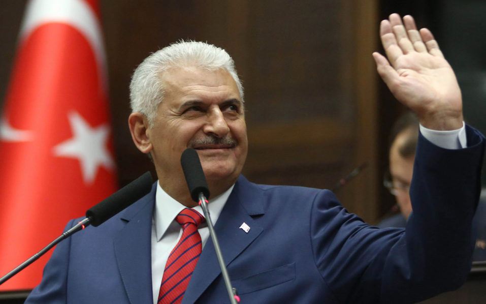 Turkish Prime Minister Binali Yildirim  / AFP PHOTO / ADEM ALTAN
