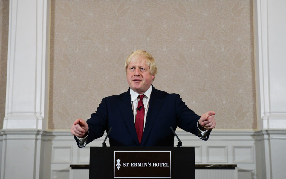 Brexit campaigner and former London mayor Boris Johnson is pictured as he addresses a press conference in central London on June 30, 2016.  Top Brexit campaigner and former London mayor Boris Johnson said Thursday he will not stand to succeed Prime Minister David Cameron, as had been widely expected after Britain's vote to leave the European Union. / AFP PHOTO / LEON NEAL