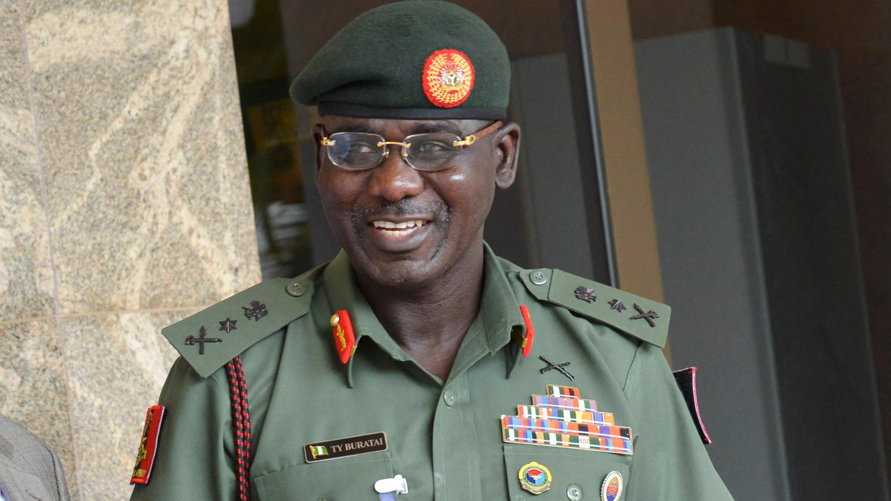 Chief of Army staff, Lt.-Gen. Tukur Buratai PHOTO: NAN